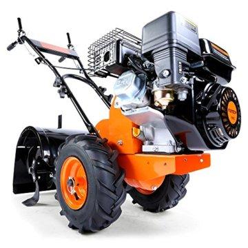 FUXTEC Benzin Gartenfräse FX-AF200 Motorhacke Ackerfräse Bodenfräse Bodenhacke Kultivator mit Räder, 196cc 4,8KW / 6,5PS -