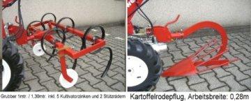 POWERPAC KAM5 - EINACHSER Fräskasten 60cm MOTORHACKE GARTENFRÄSE MOTORFRÄSE HONDA 9 PS -