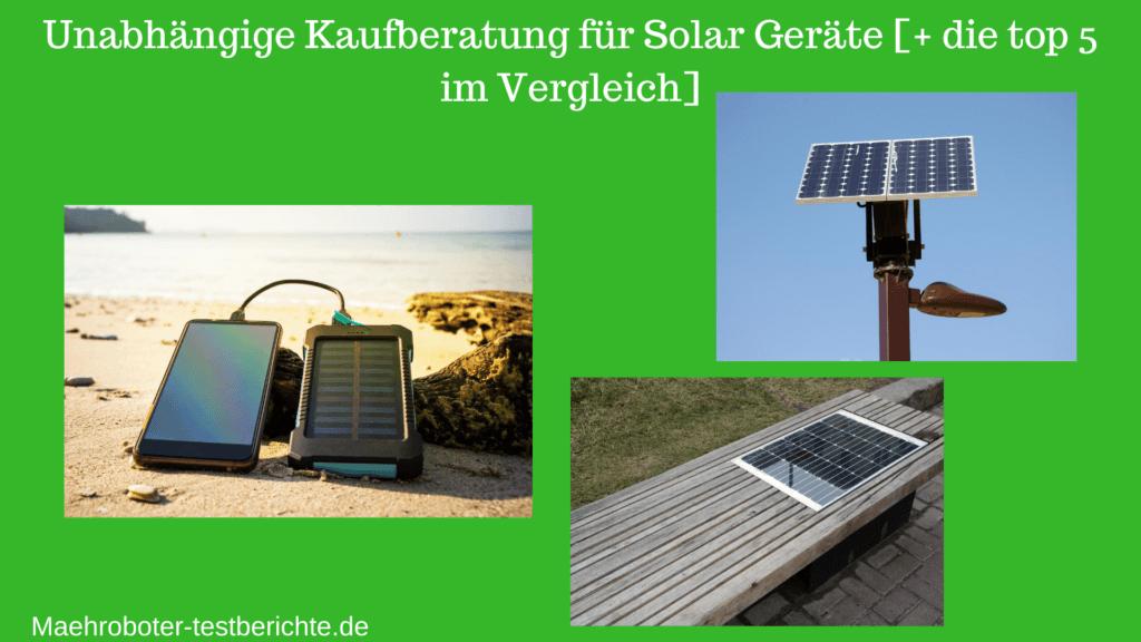 solar ladegerät test