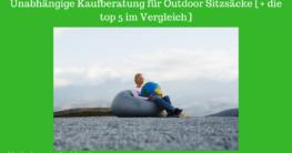 outdoor sitzsack test bild
